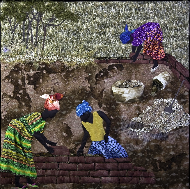 Textile Art for Africa - One Brick at a Time