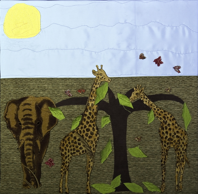Textile Art for Africa - One Wild Animal at a Time