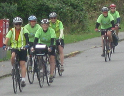 Grannies cycling to raise money for the Stephen Lewis Foundation.
